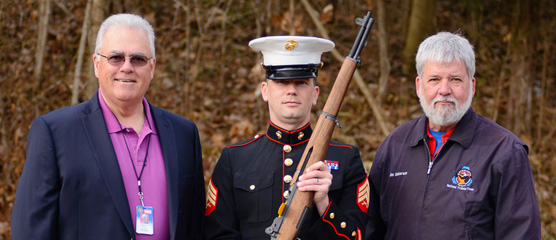 The Arnold Rifle and Pistol Club held an M1 for Vets rifle presentation ceremony for Sgt. Joshua S. Barrett USMC(ret) at 8:00am Saturday March 21, 2015. Sgt. Joshua S. Barrett served in the United States Marine Corps from January, 2005 until March 2013.