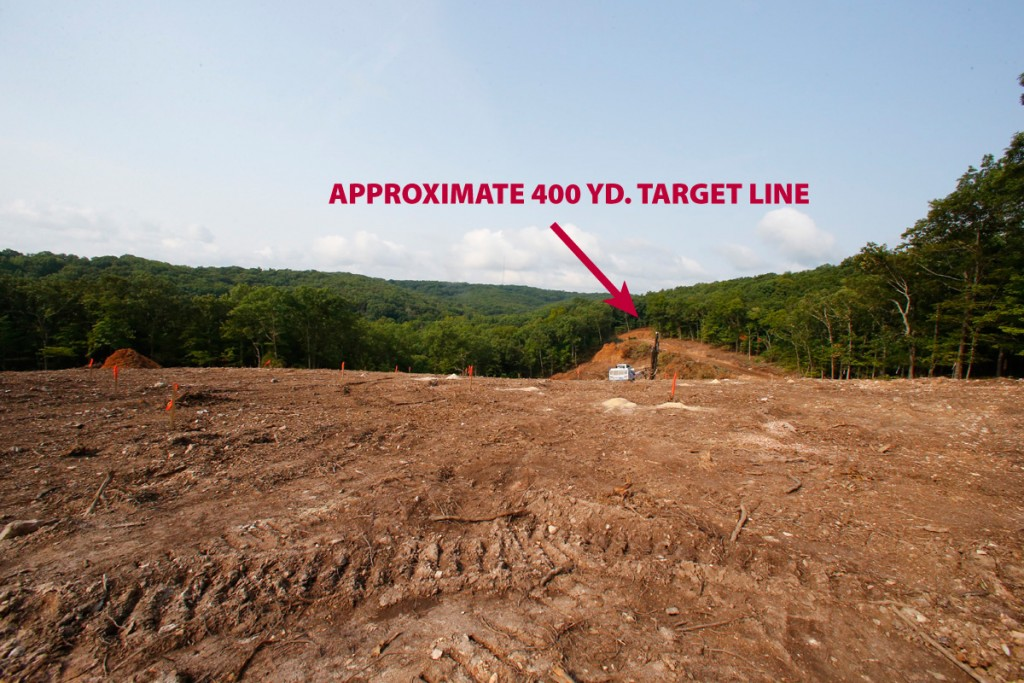 This image, taken from near where the firing line will eventually be located, shows the approximate location of the 400 yard line. (08/22/18)